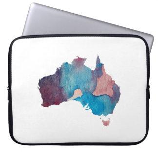 Bunte Australien-Silhouette Laptop Sleeve