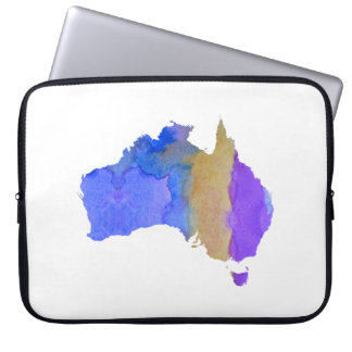 Bunte Australien-Silhouette Laptopschutzhülle
