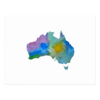 Bunte Australien-Silhouette Postkarte