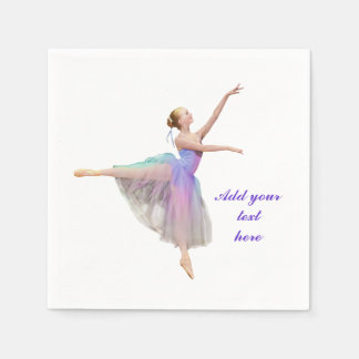 Bunte Ballerina in der Arabeske, kundengerechter Papierservietten