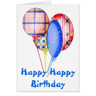 Bunte Ballone Geburtstags-Karte Karte
