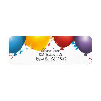Bunte Ballone u. Confetti-Geburtstags-Party