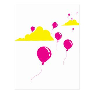Bunte Ballone und Wolken Postkarte
