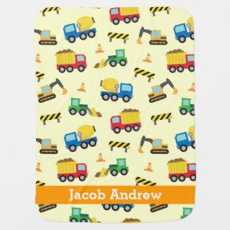 Bunte Bau-Fahrzeuge Muster, Babys Baby-Decke