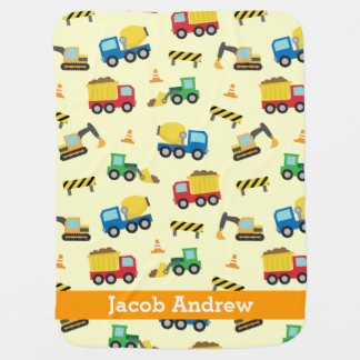 Bunte Bau-Fahrzeuge Muster, Babys Kinderwagendecke