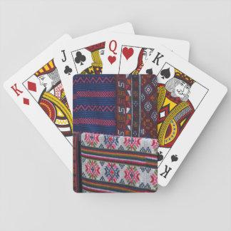 Bunte Bhutan-Gewebe Spielkarten