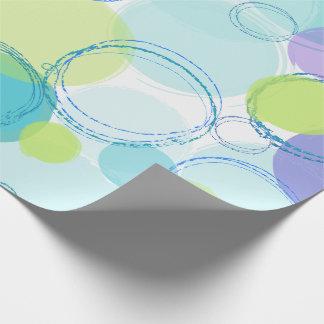 Bunte Blasen Geschenkpapier