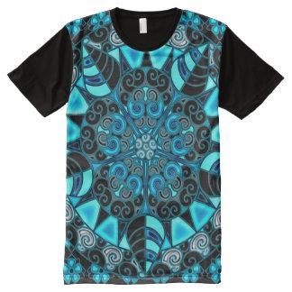 Bunte Blau-drittes Augen-geometrische T-Shirt Mit Komplett Bedruckbarer Vorderseite