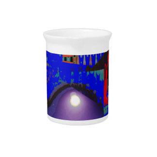 Bunte blaue lila Mond Shine-Nachtgeschenke Getränke Pitcher