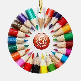Bunte Bleistift-Verzierung Ornament