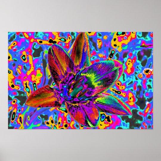 Bunte Blume Poster