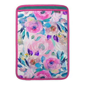 Bunte Blumen-Collage MacBook Sleeve