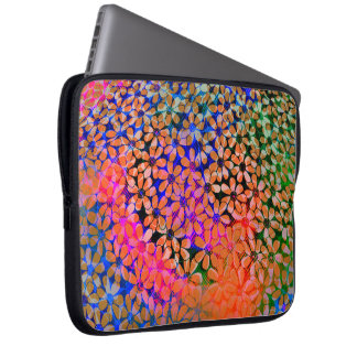 Bunte Blumen Laptop-Hülse Laptopschutzhülle