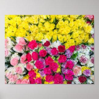 Bunte Blumen Poster