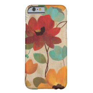 Bunte Blumen und Knospen Barely There iPhone 6 Hülle