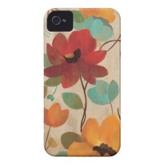 Bunte Blumen und Knospen iPhone 4 Case-Mate Hülle