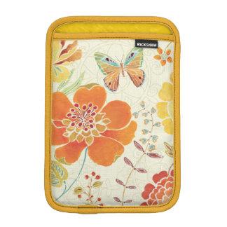 Bunte Blumen und Schmetterlinge Sleeve Für iPad Mini