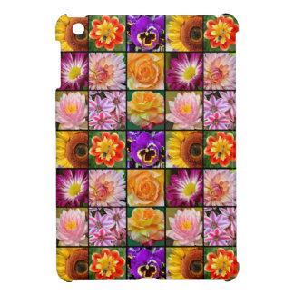 Bunte Blumencollagendruck ipad Abdeckung iPad Mini Hüllen