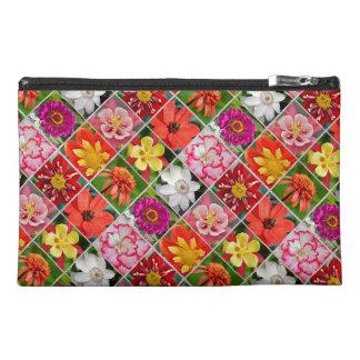 Bunte Blumencollagendruck-Zusatztasche