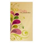 Bunte BlumenDeko-Blätter-Natur-Visitenkarte Visitenkarten