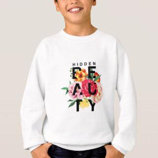Bunte Blumentypographie versteckte Schönheit Sweatshirt