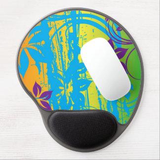 bunte Blumenvektorkunst Gel Mousepad