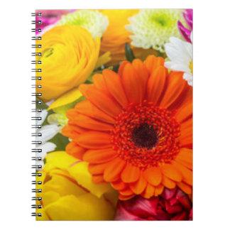 Bunte botanische Blumen Spiral Notizblock