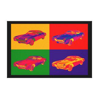 Bunte Buick- Rivieraauto-Pop-Kunst 1967 Leinwanddruck