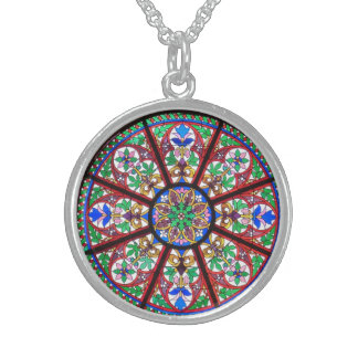 Bunte Buntglas-Fenster-Silber-Halskette Sterling Silberkette