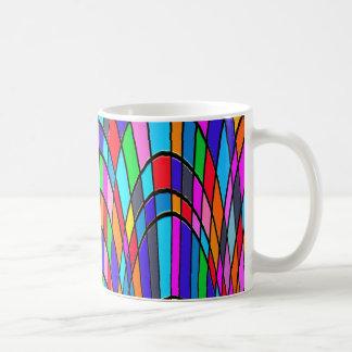 Bunte Buntglas-Kunst Kaffeetasse
