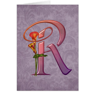 Bunte Calla-Initiale R Karte