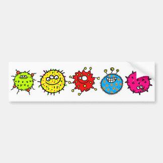 Bunte Cartoon-Mikroben Autoaufkleber