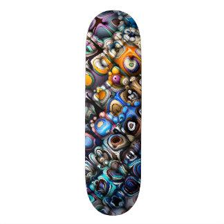 Bunte chaotische Konturen Individuelle Skateboards