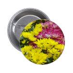 Bunte Chrysantheme-Blumen Anstecknadel