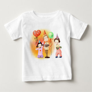 Bunte Clowns Baby T-shirt