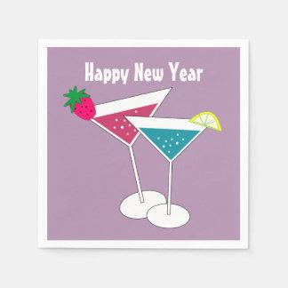 Bunte Cocktail-neue Jahr-Papierservietten Serviette