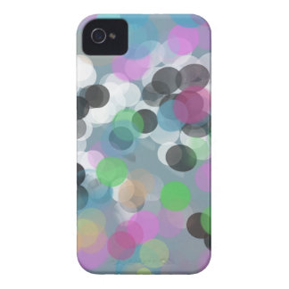 Bunte Confetti Bokeh Punkte iPhone 4 Cover