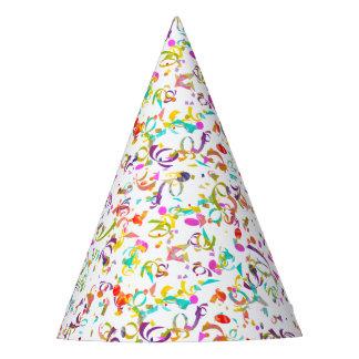 Bunte Confetti-Wurf-Grafik Partyhütchen