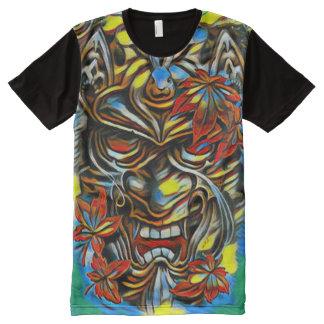 Bunte Dämon-Masken-Fantasie-Ölfarbe T-Shirt Mit Komplett Bedruckbarer Vorderseite