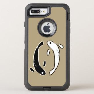 Bunte dekorative Koi Fisch-Schwimmen OtterBox Defender iPhone 8 Plus/7 Plus Hülle