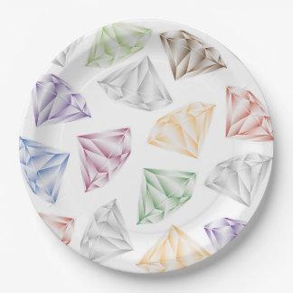 Bunte Diamanten für meinen Schatz Pappteller