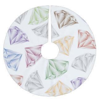 Bunte Diamanten für meinen Schatz Polyester Weihnachtsbaumdecke