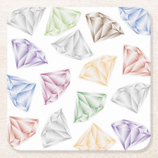 Bunte Diamanten für meinen Schatz Rechteckiger Pappuntersetzer