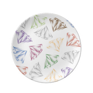 Bunte Diamanten für meinen Schatz Teller