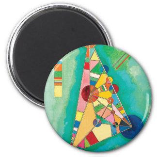 Bunte Dreiecke durch Wassily Kandinsky Runder Magnet 5,1 Cm