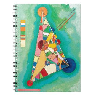 Bunte Dreiecke durch Wassily Kandinsky Spiral Notizblock