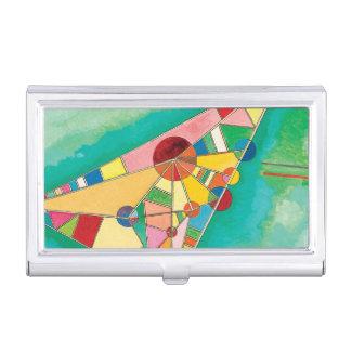 Bunte Dreiecke durch Wassily Kandinsky Visitenkarten Dose