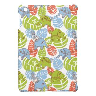 Bunte Dschungel-Elefanten iPad Mini Hülle
