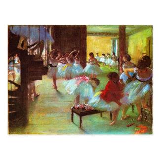 Bunte Edgar Degas-Ballerina-schöne Kunst Postkarte