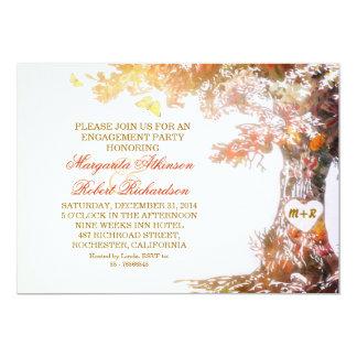 bunte Eichenbaum-Verlobungs-Party Einladungen